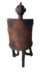 "Old LG African 3-Legged Makonde Chair  Tanzania 55"" H"
