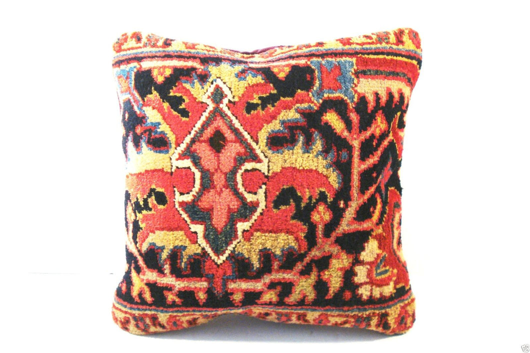 Superb circa 1900 Antique Heriz Fragment Pillow 16