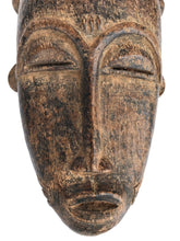 "Load image into Gallery viewer, Stunning African Baule Portrait Mask Cote D'ivoire 16"" H"