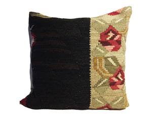 "Superb Custom Made Old Turkish  Tribal Kilim Pillow  20"" by 20"""