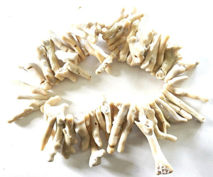 Superb Trade African Natural white Coral 56 Beads