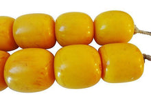 "Load image into Gallery viewer, FABULOUS RARE LARGE  African AMBAR / AMBER YELLOW  25 beads 1"" 1/2"