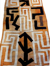 "Load image into Gallery viewer, Superb  Kuba Cloth - Bushoong – DR Congo 126 Long by 23.5"" w"