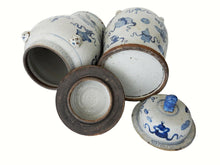 "Load image into Gallery viewer, Superb Large Chinoiserie Blue & White Ginger Jars - a Pair 23"" H"