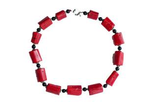 Superb Nepalese  Natural Red Coral  Beads Necklace 13 beads