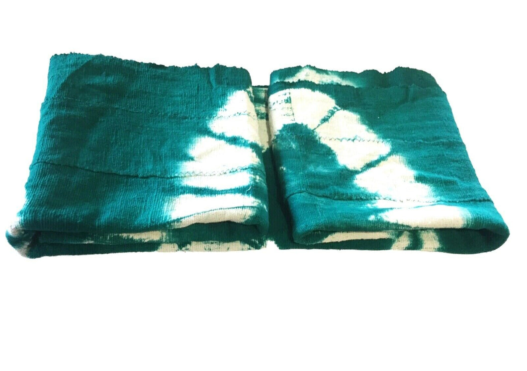 African Emerald Green & White Mud Cloth Textile Mali 45