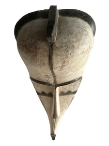 "#1334 Lg Fang Mask Elongated Face Gabon African Mask 28.5"" H"