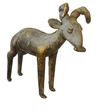 "Load image into Gallery viewer, Bronze AfricanTribal/ Ashanti Akan Of a Ram/ I Coast 4 .75"" h"