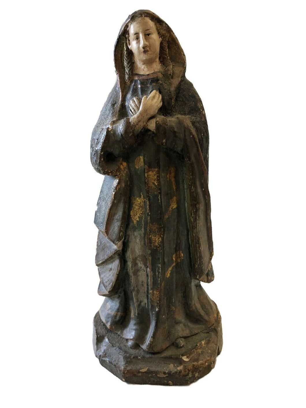 Rare 19th Century Terra-Cotta Figure of a Saint Philomena 7