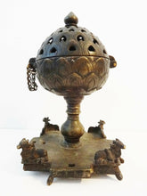Load image into Gallery viewer, Superb  Rare 19th C  Bronze Incense Burner India