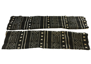 "African Mali Black and White Mud Cloth Textile / PAIR 64"" by 45.5"" Pair"