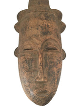 "Load image into Gallery viewer, #1609 Superb African Baule Portrait Mask Cote D'ivoire 16.5"" H"