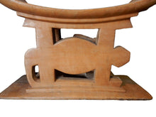 "Load image into Gallery viewer, #AS99 Superb and Rare Old Ashanti Carved Wood Porcupine Stool 21"" W by 14"" H"
