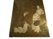 Load image into Gallery viewer, SUPERB CHINESE INK BRONZE BOX WIT FIGURES ...YOU  MUST SEE.....