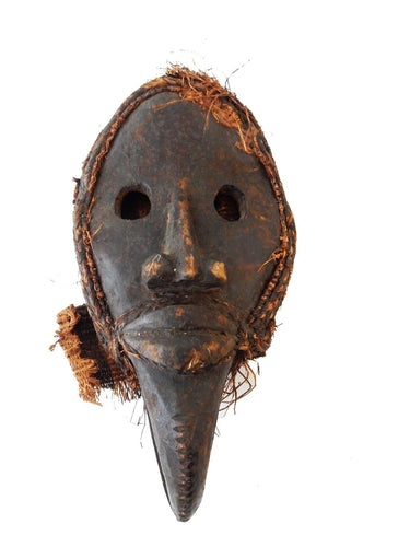SUPERB AFRICAN   I. COAST DAN CEREMONIAL DANCE MASK 12.5