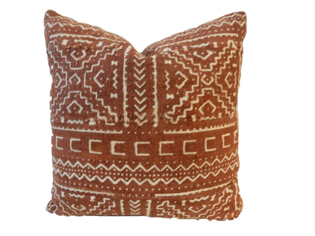 African Custom Made Mud cloth Pillow 15.5