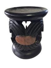 "Load image into Gallery viewer, Superb Old African Bamileke wood Low Stool 14"" H by 12 "" D Cameroon"