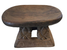 "Load image into Gallery viewer, Superb African Bamileke Low  Milk Stool Cameroon 14."" w by 9.25"" h"