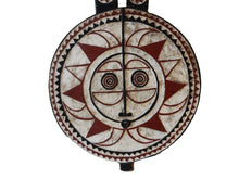 "Load image into Gallery viewer, Superb African LG  Baule Tribe Moon Mask I Coast  66"" H by 27.5' W"
