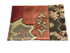 "Superb Custom Made Old Turkish  Tribal Kilim Pillow Cover 16"" by 24"""