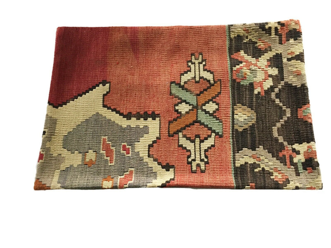 Superb Custom Made Old Turkish  Tribal Kilim Pillow Cover 16
