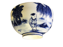 "Load image into Gallery viewer, #2023 Chinese B & W Eggshell Porcelain  Bowl 7.75"" Diameter"