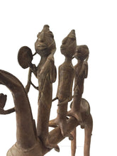 "Load image into Gallery viewer, Superb LG African Dogon Bronze Horse W/Companions 21.5"" H by 18""W"