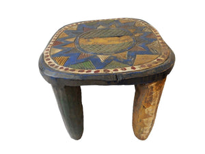 "African Old Nupe Low Stool I Coast 10"" h by 14"" w"