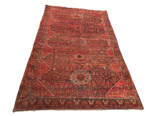 Stunning 19th C Palace Size Tribal Kamseh Rug 10' x 16'
