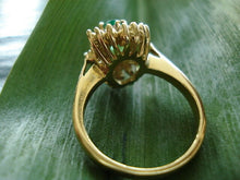 Load image into Gallery viewer, SUPERD OLD18KT GOLD WITH EMERALD AND DIAMOND  Y MUST SEE ...