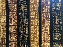 "Load image into Gallery viewer, Superb Bogolan Mali Mud Cloth Textile W/ Bone Trade Beads 40"" by 60"" # 295"