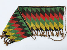 "Load image into Gallery viewer, Ceremonial Skirt Kirdi Beaded Cache Sex Pikuran Cameroon 20"" W by 8""H"