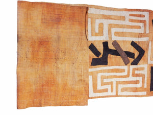 "Superb  Kuba Cloth - Bushoong – DR Congo 126 Long by 23.5"" w"