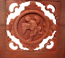 "Load image into Gallery viewer, Superb Antique Carved Wood Chinese Wall Hangings/Shutters, Pair 54"" h"
