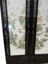 "Load image into Gallery viewer, #1998 Chinese set of 4 Hand Painted Famille Rose Porcelain Panels, 20"" W x 67.5"" H"