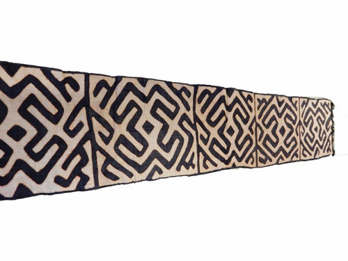 Superb  Kuba Cloth - Bushoong – DR Congo 115 Long by 20