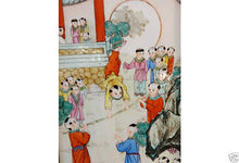 Load image into Gallery viewer, Vintage  Chinese Porcelain hand painted Panel with wood frame