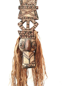 "SUPERB OLD NUNA ANTELOPE HEADRESS MASK B FASO 52.5"" H W/STAND"