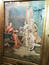 "Load image into Gallery viewer, Antique Italian Watercolor Umberto Cacciarelli ""The Cardinal's Visit"" 33.75"" H"