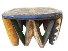 "Load image into Gallery viewer, African Old Nupe Low Stool I Coast 10"" h by 14"" w"