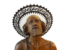 "Load image into Gallery viewer, LG Museum Quality European Hand Carved Wood 18th C Santos ST Geronimo 26"" H"