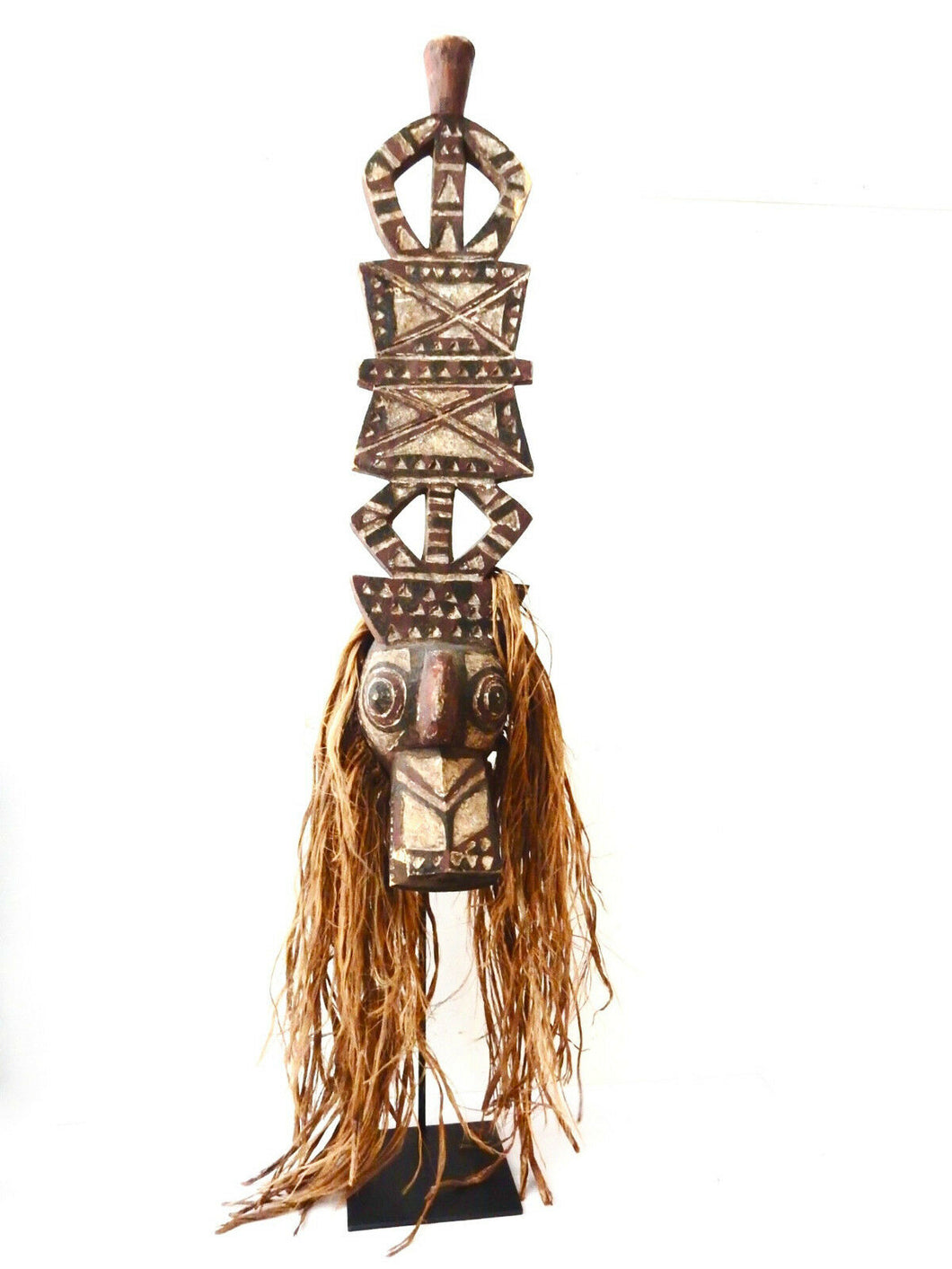 SUPERB OLD NUNA ANTELOPE HEADRESS MASK B FASO 52.5