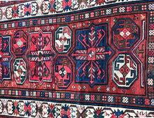 "Load image into Gallery viewer, Superb 19th Caucasian Kazak/casak  7' 4"" by 3' 7"""