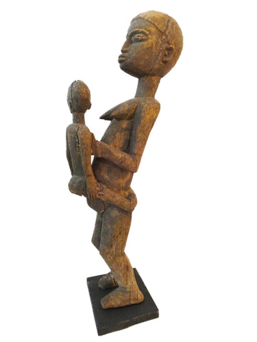 Stunning Carving Old Lobi Maternity Sculpture Burkina Faso 23.5H