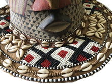 "Load image into Gallery viewer, #1416 Stunning  Kuba Royal Head Mask  Congo Africa 13"" H"