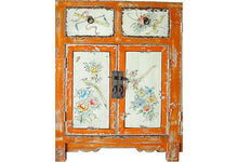 Load image into Gallery viewer, Superb Mongolian hand painted Elm Cabinet W/ Six Doors
