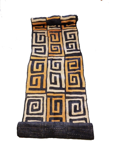 Superb  Kuba Cloth - Bushoong – DR Congo 134 Long by 23