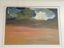 "Load image into Gallery viewer, Acrylic Landscape on Paper Framed Abstract 13.25"" by 11.25"" By YJR"