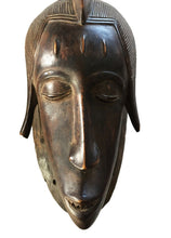 "Load image into Gallery viewer, Superb Old African  Baule Portrait Mask Cote D'ivoire 13"" H"