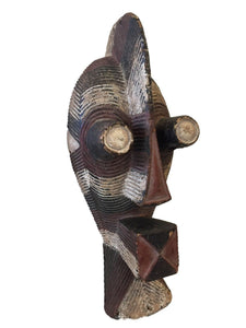 "Old African Male Songye Kifwebe Mask 21"" h"